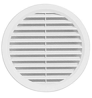 Rejilla de ventilaci/ón 2 unidades blanco T73w di/ámetro 45 mm redonda