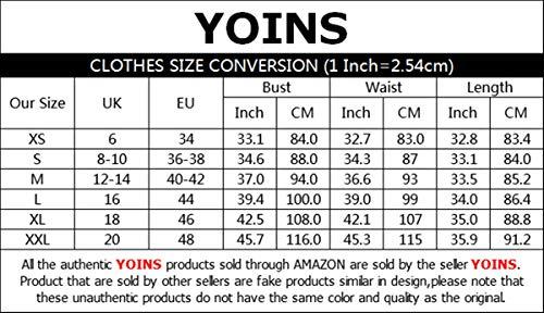 YOINS - Vestito estivo da donna, scollo a V, maniche corte, con volant, lunghezza corta, mini abito casual bianco XXL