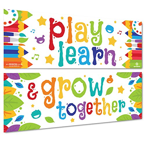 Sproutbrite Classroom Decorations - Banner and Poster for Teachers - Bulletin Board and Wall Decor for Pre School, Elementary and Middle School