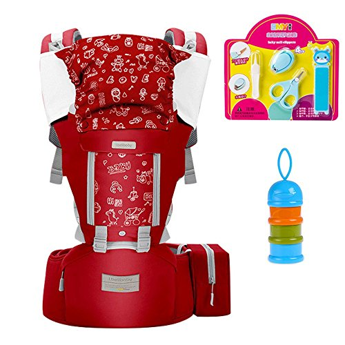 G-YY Baby carrier Summer baby waist stool multi-function shoulder strap child holding stool four seasons universal, red