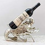 Decoración Del Hogar Escultura Moderna Decoración Estante De Vino Estatua De Langosta Soporte De Botella De Vino Resina Adornos De Escultura Creativa Accesorios De Soporte De Vino Tinto Decoración De