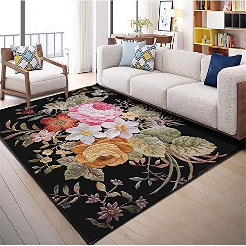 Tapis Enfant Chambre Garcon Le Motif Floral du Tapis rectangulaire du Salon est Doux et résistant à l
