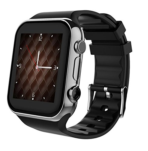Scinex SW20 16GB Bluetooth Smart Watch GSM Phone - US Warranty (Silver/Blue)