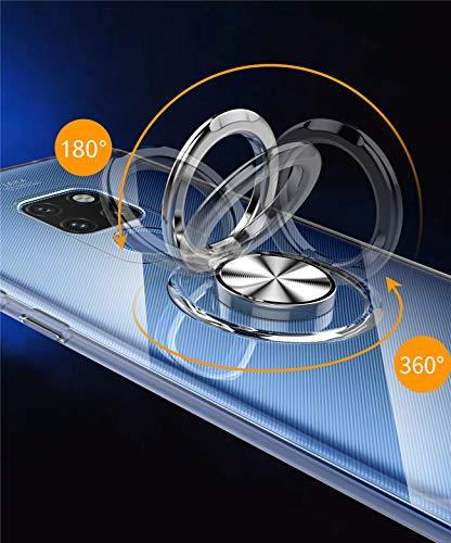 Kompatibel mit Huawei Mate 20 Lite Hülle Huawei Mate 20 Pro Silikon-Weiche Handyhülle Stoßfest Kickstand 360 Grad Handy Backcover Magnetische Autohalterung Anti-Rutsch Schutz (Durchsicht, Mate 20 Pro) - 5