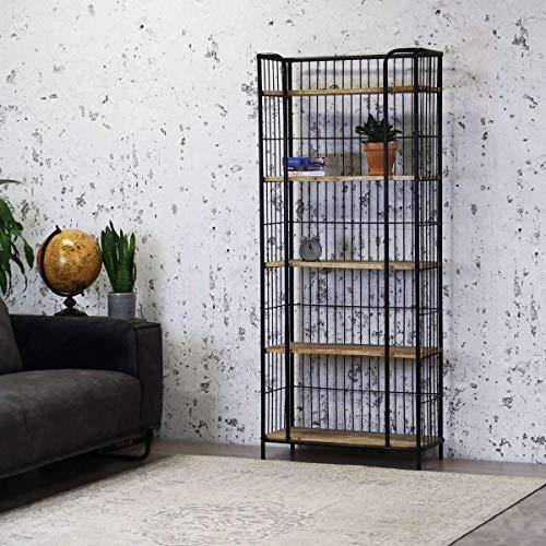 Nancy's Industriële Wandkast - Boekenkast - Mangohout Kasten - Wandkasten