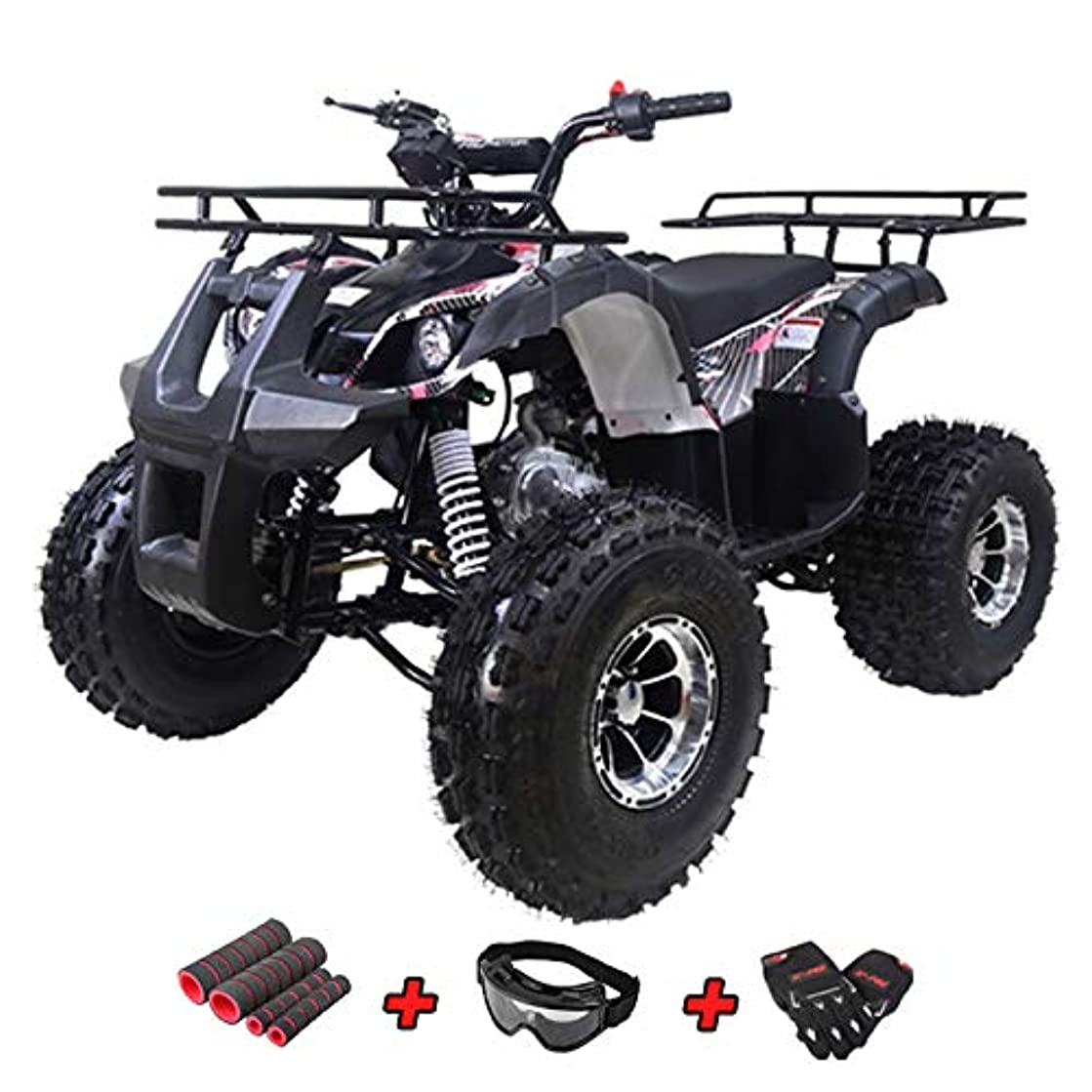X-Pro 125cc ATV Quad Youth ATV Kids Quad ATVs 4 Wheeler Fully Assembled and Tested with Gloves, Goggle and Handgrip