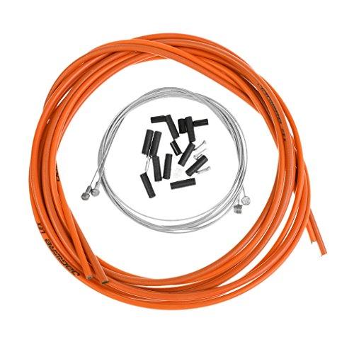 MagiDeal Kit de Câble de Frein Vélo Jantes d'Avant et d'Arrière Fil Métal Intérieur et Housse PVC Extérieur - Orange