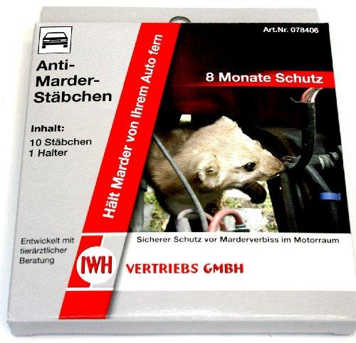 IWH 78406 Anti-Marder-Stäbchen, 10 Stück mit Halter