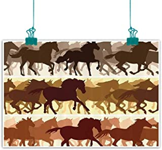 American Western Country Decor Collection Modern Frameless Painting Horses Racing Abstract Design Art Print Bedroom Bedside Painting 28