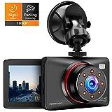 APEMAN Dashcam Full HD Autokamera 1080P DVR mit 170 Weitwinkelobjektiv, Infrarot-Funktion, GPS, WDR,...