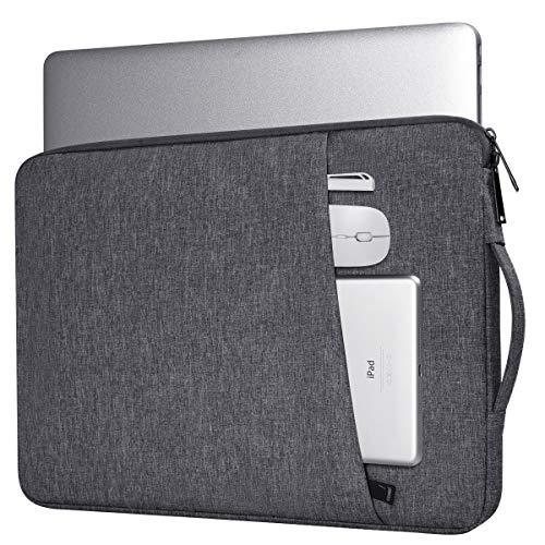 14-15Inch Waterproof Laptop Briefcase Sleeve for Acer Spin 3 14, Lenovo Flex/Yoga 14, Asus Chromebook Flip/Vivobook Flip 14, HP Pavilion x360 14/Dell Latitude with Pocket(Space Grey)