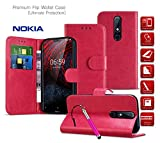 MobiBax Nokia 6 2017 Cover, Premium Leather Case Flip