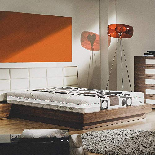 MATERASSO MEMORY SINGOLO 80X190 ALTO 25 CM SEMI RIGIDO SFODERABILE ORTOPEDICO CON DISPOSITIVO MEDICO, CON LASTRA IN MEMORY FOAM DA 2 CM A 9 ZONE E LASTRA IN WATERFOAM 22 CM - MATERASSO EVOLUTION