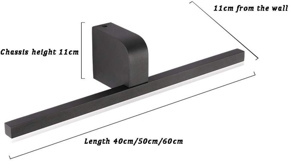 Schminkspiegel Kompakt mit LED-Leuchten Tragbarer Taschenbeleuchteter Kosmetikspiegel für Handtaschen Reisespiegel Black50cm