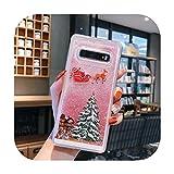 Quicksand Santa Claus Elk teléfono caso para Samsung Galaxy Note 10 Pro S10e S10 Plus S8 S9 Plus S7 Cartoon Christmas Back Cover-T3-For Samsung Note 9
