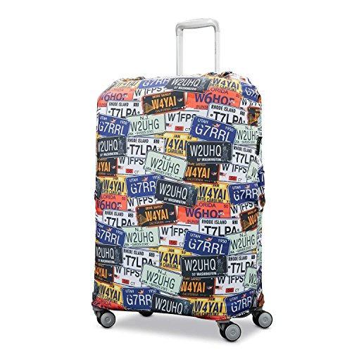 Samsonite Printed Luggage Cover, License Plate, Extra Large