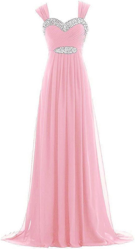 Natasha Women's A Line Chiffon Today's only Bridesmaid Long Dress Wedding Cheap sale Gue