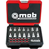 """Peddinghaus 9028000000 - Juego de llaves de tubo para tornillos Torx (1/2"""", 28 piezas), color rojo y negro"""