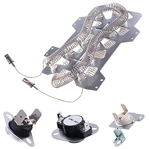 Price comparison product image Dryer Heating ElementDC47-00019Afor Samsung,  Thermal Fuse DC96-00887A and DC47-00016A),  Thermostat DC47-00018A Dryer Repair Kit Replacement,  Figure 6 is the Compatible Model.