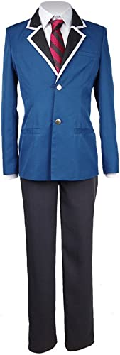 Fan Kouyang Anime Uniform Lang elige Anzug Cosplay Uniform (XXXL, Blau-Schwarz