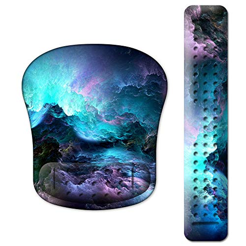 (48% OFF Coupon) Ergonomic Mouse Pad W/ Wrist Support Set $9.87