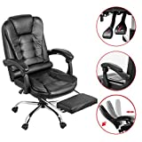 Happybuy Executive Swivel Office Chair with Footrest PU Leather...