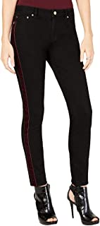 MICHAEL KORS Womens Black Velvet Trim Tuxedo Skinny Jeans Petites US Size: 8
