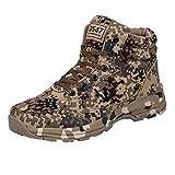 MEHOUSE Bottes de Sécurité Bottes Militaires Camouflage Homme Bottes de Neige Hiver Chaud Doublure en Fourrure Bottines Hautes...