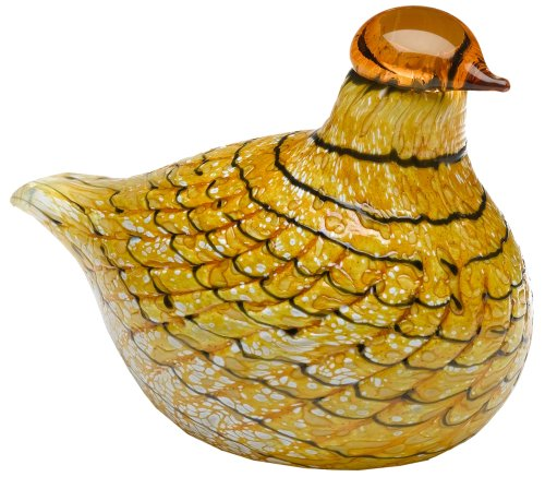 Iittala Birds of Toikka Mouthblown Glass Bird, Summer Grouse
