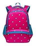 Kids Backpack for Kindergarten Girls School Bags Girly Bookbags (Small,Hot Pink&Blue)