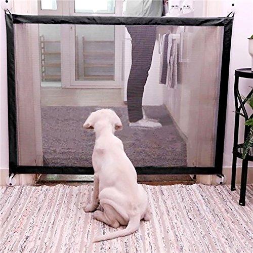 Hundenetz Haustier Barrier Sicherheit Netz, Geflügelnetz Trenngitter für Hunde Hundegitter Isolation Netzwerk Sicherheitsbarriere - Feines Gitter Einziehbare Sicherheitsbarriere faltbarer 72-180 cm