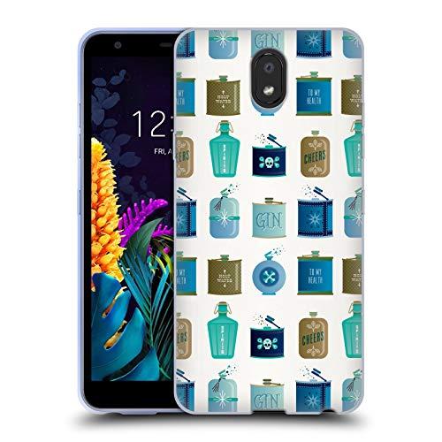Officiële Cat Coquillette Blauwe kolven Patronen 4 Soft Gel Case Compatibel voor LG K30 (2019)