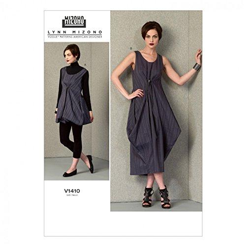 Vogue Damen-Schnittmuster 1410, lockere Passform, Pullover Kleider