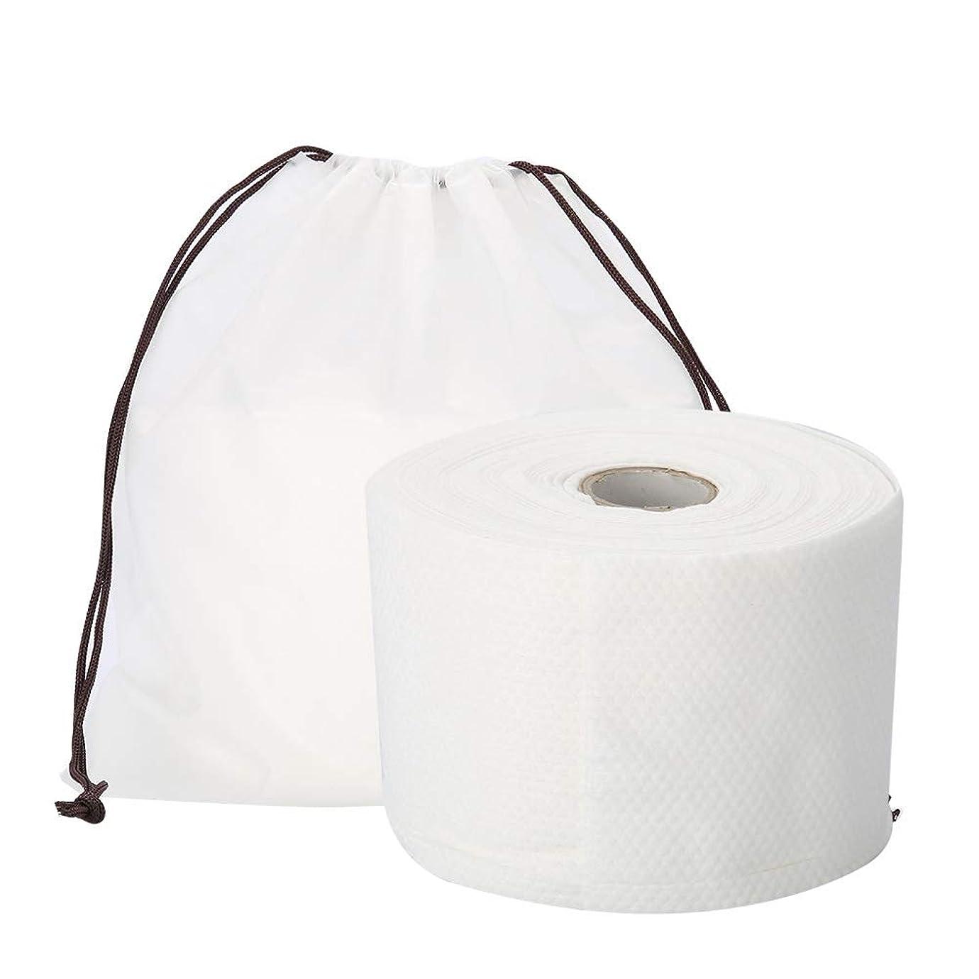 更新する永久にアカウントSemmeの使い捨て可能なクリーニングのフェイスタオル、毛羽立ちのない綿パッドの構造使い捨て可能なフェイスタオルの柔らかいNonwovenのクリーニングの化粧品の綿パッド25m