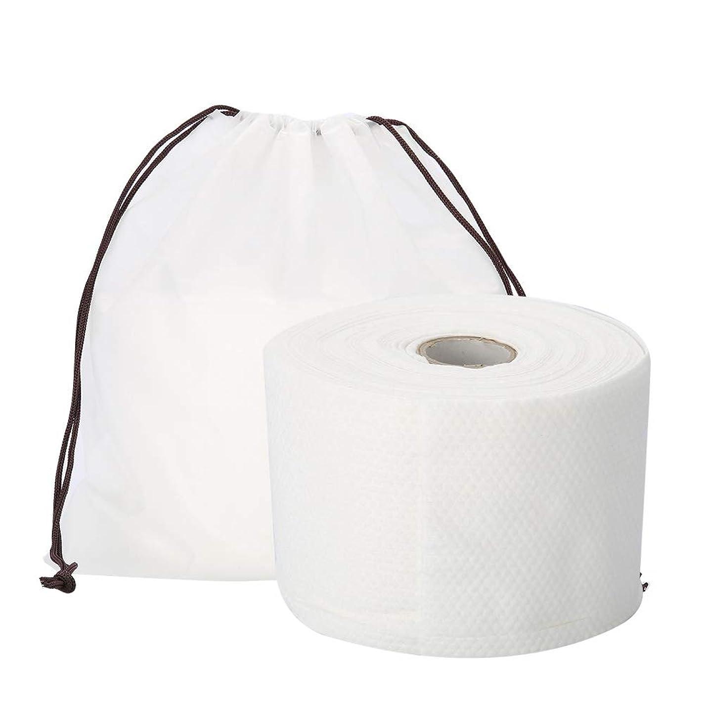 簡単な今日キウイSemmeの使い捨て可能なクリーニングのフェイスタオル、毛羽立ちのない綿パッドの構造使い捨て可能なフェイスタオルの柔らかいNonwovenのクリーニングの化粧品の綿パッド25m