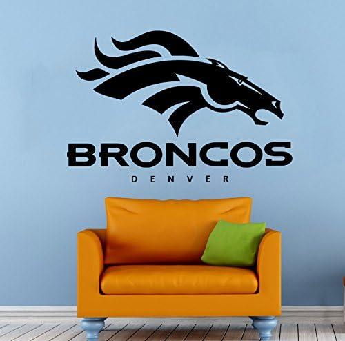 Denver Broncos Vinyl Decal Wall Sticker NFL Emblem Football Team Logo Sport Poster Home Interior product image