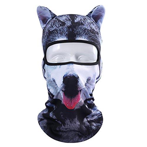 ECYC 3D Gedruckt Tier Kopf Abdeckung Balaclava Bandana Maske für Angeln Camping