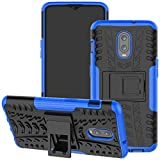 Yerebel OnePlus 6T Case,One Plus 6T Case, with Kickstand Hard PC Back Cover Soft TPU Dual Layer Protection Phone Cover for OnePlus 6T (Blue)