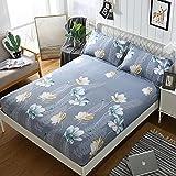 CYYyang colchón Acolchado, antialérgico antiácaros, Sábana de Cama de algodón Aloe simple-19_200cm × 220cm