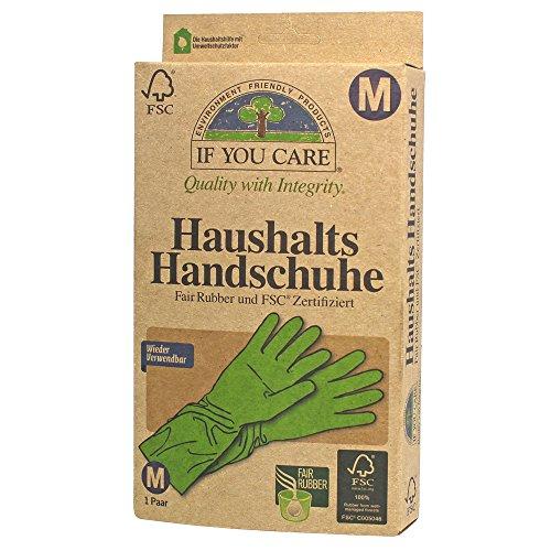 If you care FSC Gummi-Handschuhe, Größe M, 2 Stück