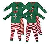 Pijamas de Navidad a Juego con la Familia Pijamas de Elfo para niños Niños Pijamas de Navidad Regalos para niñas Ropa de Dormir para Mujer Traje de Hombre (XL, King Elf)