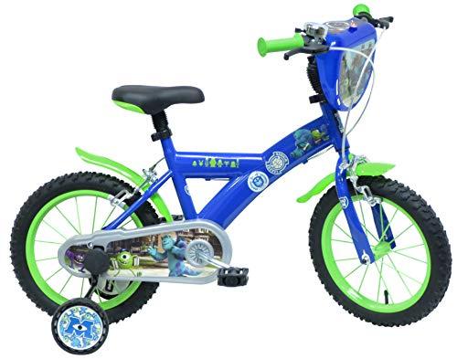 Disney Monsters Academy University Vélo Mixte Enfant, Bleu, 16\