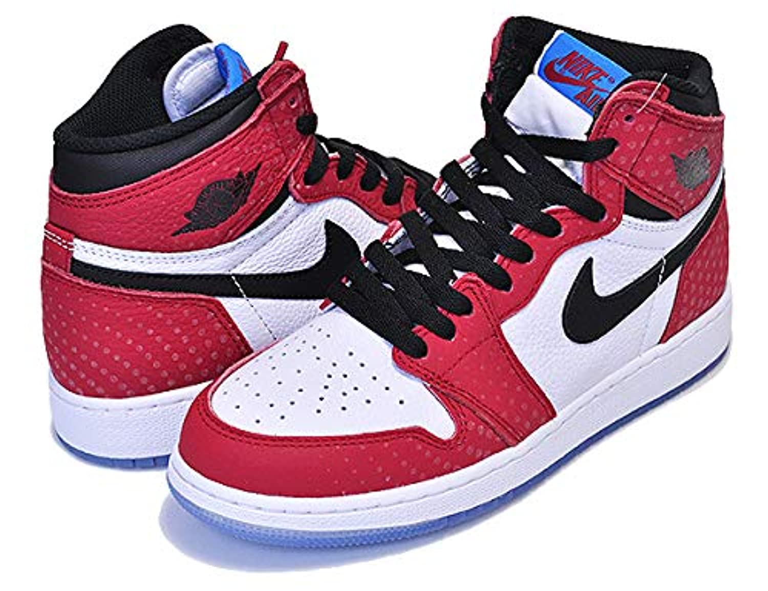 [ナイキ] エアジョーダン 1 ハイ AIR JORDAN 1 HIGH OG GS SPIDER-MAN ORIGIN STORY gym red/black-white-photo blu 575441-602 [並行輸入品]