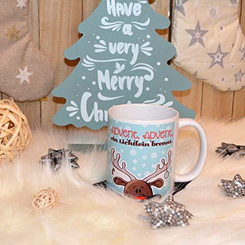 Tasse Becher Weihnachten Rentier Advent Advent