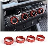 LLKUANG for Toyota Tacoma Air Conditioner Switch CD Button Knob for Toyota Tacoma 2016-2020 (Aluminum Alloy Red)