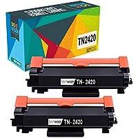 Do it wiser TN2420 TN2410 Cartuchos de Tóner Compatibles para Brother HL-L2310D HL-L2350DW HL-L2370DN HL-L2375DW DCP-L2510D DCP-L2530DW MFC-L2710DN L2710DW (Negro, Pack de 2)