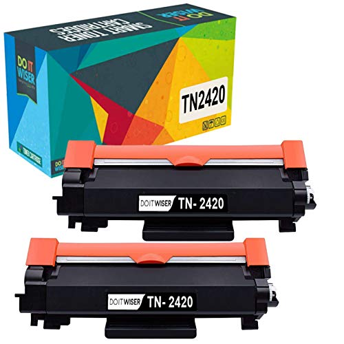 Do it wiser TN2420 TN-2420 Compatible Toner Cartridges for Brother TN2410 TN-2410 for Brother MFC-L2710DW HL-L2350DW DCP-L2530DW HL-L2370DN DCP-L2510D HL-L2375DW HL-L2310D MFC-L2730DW (Black, 2-Pack)