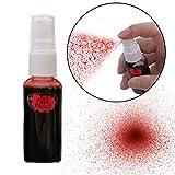 Gel de sangre, sangre artificial para Halloween, 30 ml, espray de maquillaje falso para llevar adecuado para decoración de Halloween, carnaval, maquillaje terrorífico, sangre de película