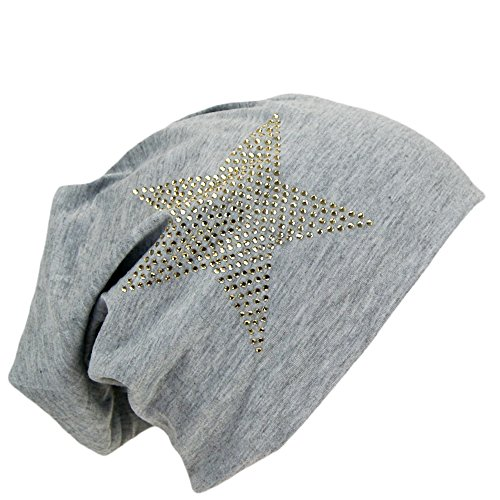 Easy4fashion Bonnet Jersey Long Bonnet tombant Unisexe Uni couleurs et avec étoile strass automne/hiver 2016 - Multicolore - One Size