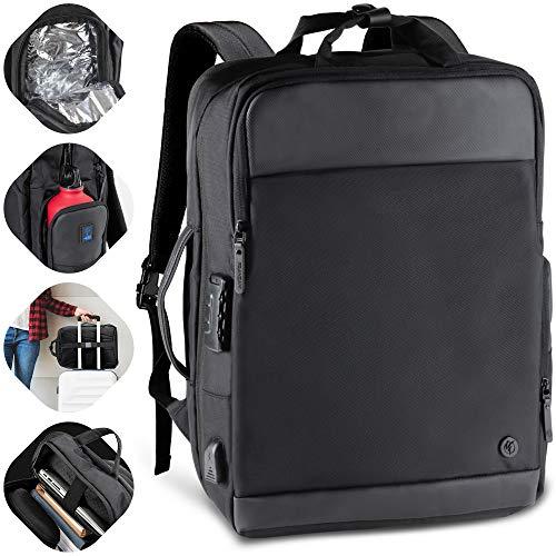 Franzani® Rucksack für Damen & Herren- wasserdicht & hochwertig - mit viel Stauraum - ideal als Laptop & Reiserucksack oder als Business Backpack, Weekender